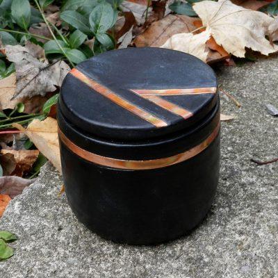Copper Raku Trinket Box