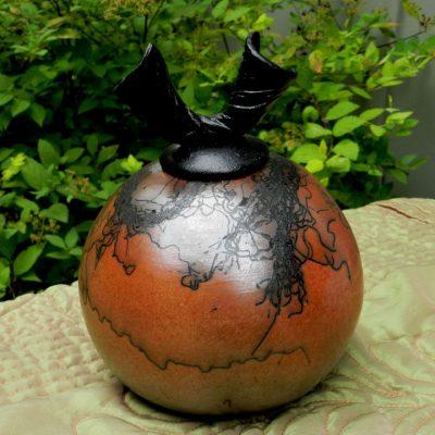 Horsehair Raku Jar
