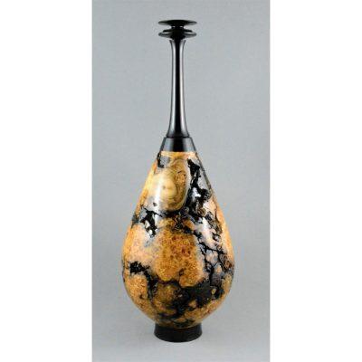 Blackwood and White Cedar Burl Vase