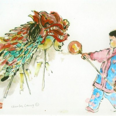 Dragon Dance (with a girl)