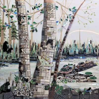 Birch detail in 'Herons-View'