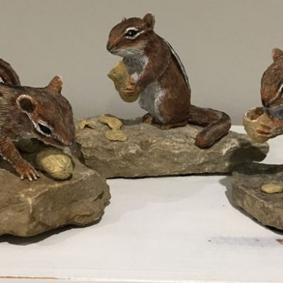 Chipmunk Sculptures