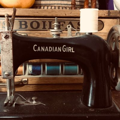 Studio Photo with Sewing Machine